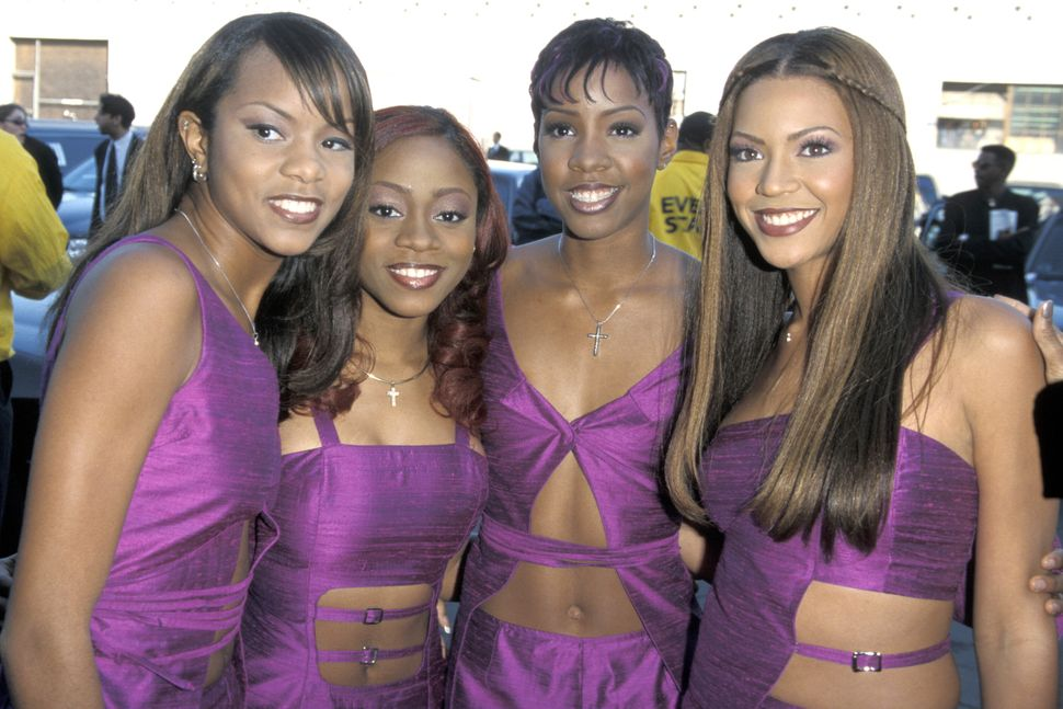 From left: LeToya Luckett, LaTavia Robertson, Kelly Rowland and Beyonce Knowles at the Shrine Auditorium in Los Angeles for t