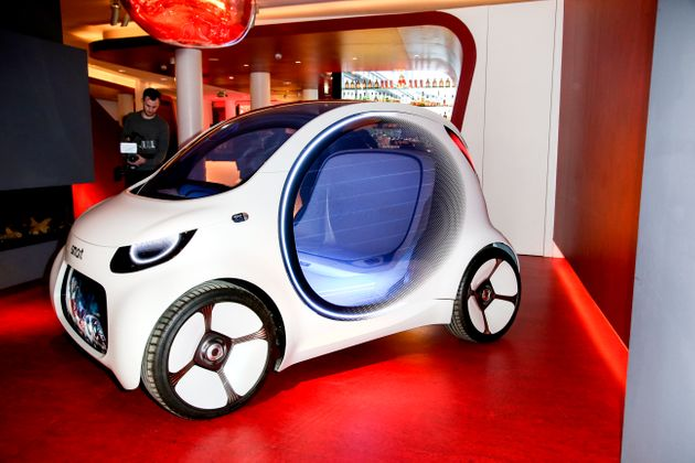 BERLIN, GERMANY - FEBRUARY 27: The Smart future car during the