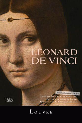L'affiche de l'exposition Léonard de Vinci au Louvre contient la mention