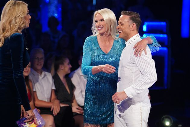 Anneka with dance partner Kevin