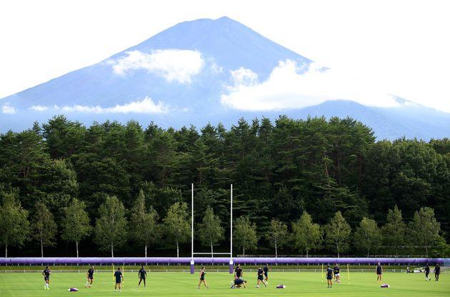Le Fuji Hokuroku Park, camp d'entraînement du XV de France, à Fujiyoshida, au Japon, le...