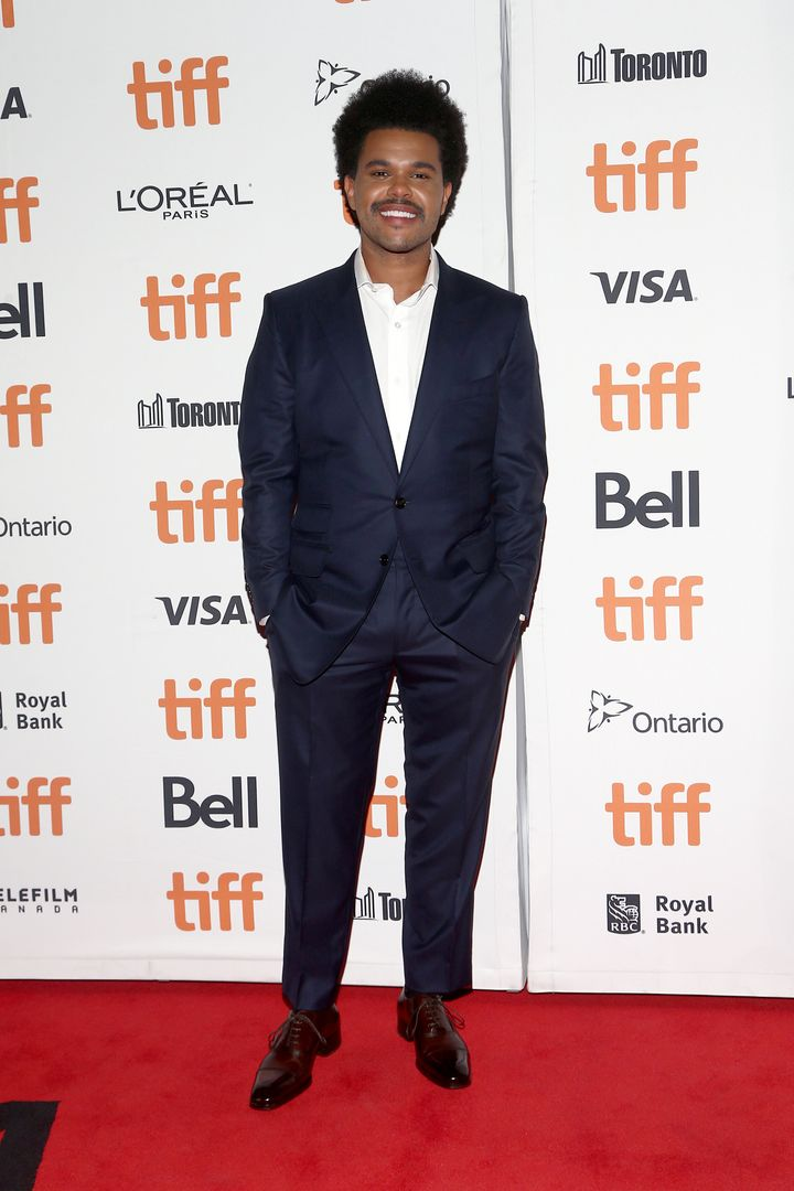 "The Weeknd attends the ""Uncut Gems"" premiere during the 2019 Toronto International Film Festival on Sept. 9 in Toronto."