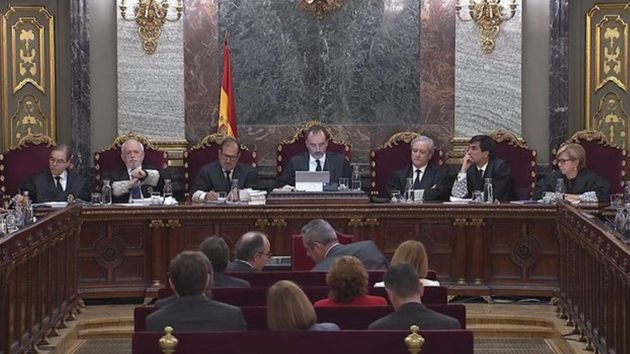 Imagen de archivo de una de las sesiones del juicio del