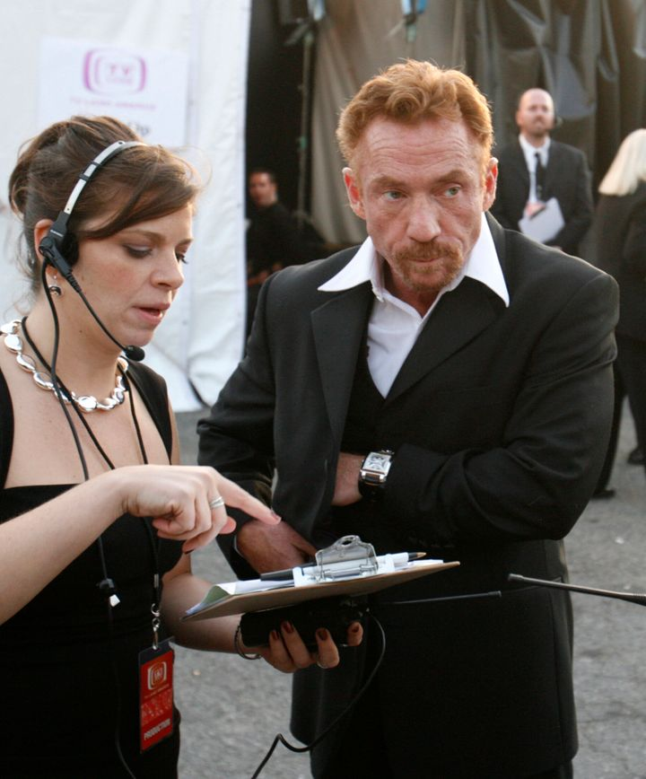 Actor Danny Bonaduce, right, waits backstage at the taping of the 5th annual TV Land Awards in Santa Monica, California, on April 14, 2007. Bonaduce's VH1 reality show, which included intense couples counseling sessions, had recently ended its second season.