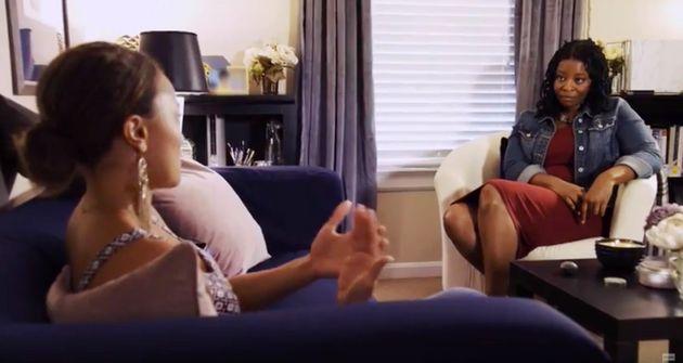 Therapist Esther Boykin talks to Ashley Darby on