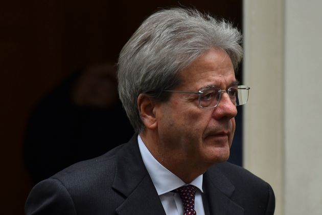 Italy's former Prime Minister, Paolo Gentiloni arrives in Downing Street in central London on March 6,...