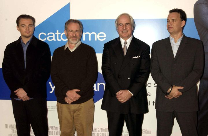Young adults are most likely to fall for a scam. Frank Abagnale, a former con man pictured above (second to the left) with Leonardo Di Caprio, Steven Spielberg and Tom Hanks, says there are two big signs of a scam you should know.