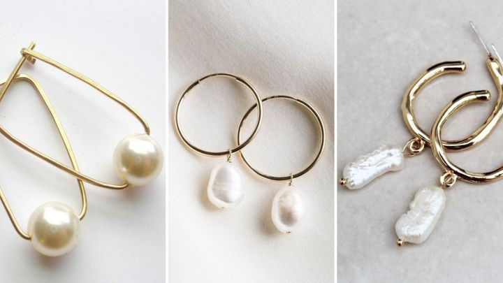 Fall 2019's biggest jewelry trend is pearl hoops