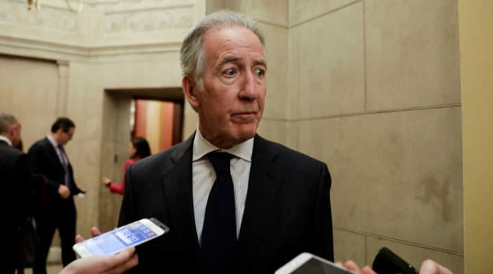 Rep. Richard Neal, chair of the House Ways and Means Committee, talks to reporters about his request to the IRS for copies of