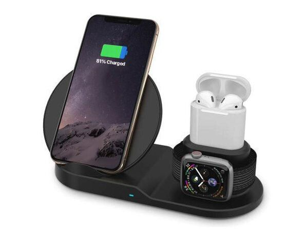 Wireless charging pad for iPhone, Apple Watch and AirPods.
