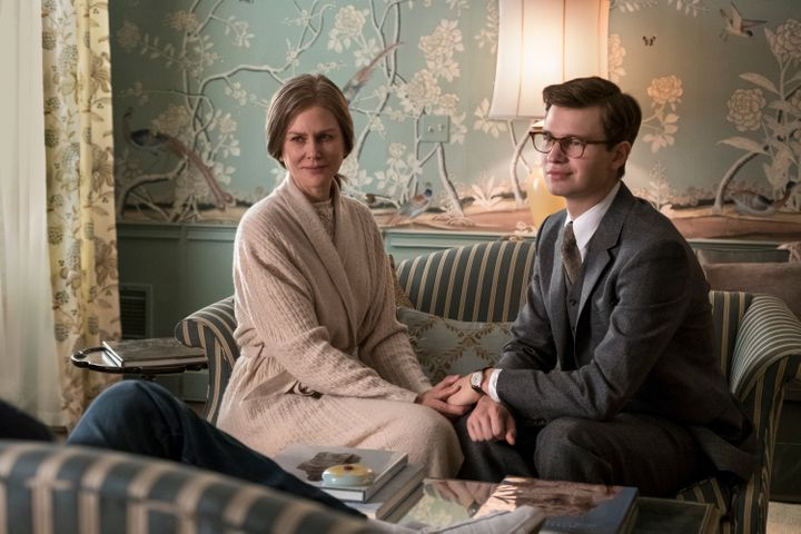 Nicole Kidman and Ansel Elgort in 'The Goldfinch.""