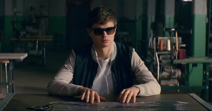 "Ansel Elgort in ""Baby Driver."""