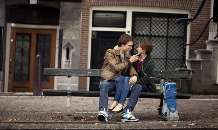 "Ansel Elgort and Shailene Woodley in ""The Fault in Our Stars."""