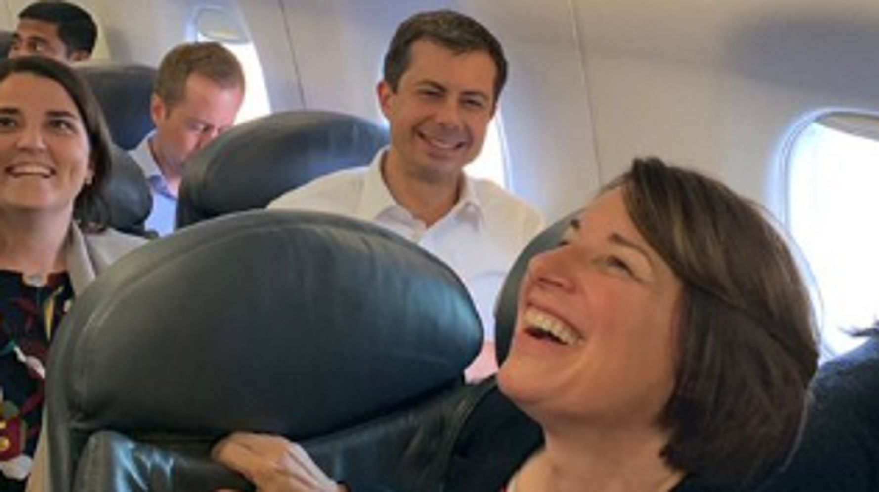 Westlake Legal Group 5d78273b3b00002b88d0c613 Pete Buttigieg Teases United For Seating Him Near Amy Klobuchar
