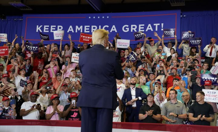 U.S. President Donald Trump holds a campaign rally in Fayetteville, North Carolina, U.S., September 9, 2019.