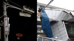 駅の屋根が破損、続く大規模停電。台風15号がおそった千葉県の現状(写真)
