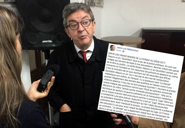 """Jean-Luc Mélenchon accuse """"Quotidien"""" de faire """"le jeu de la police politique"""""""