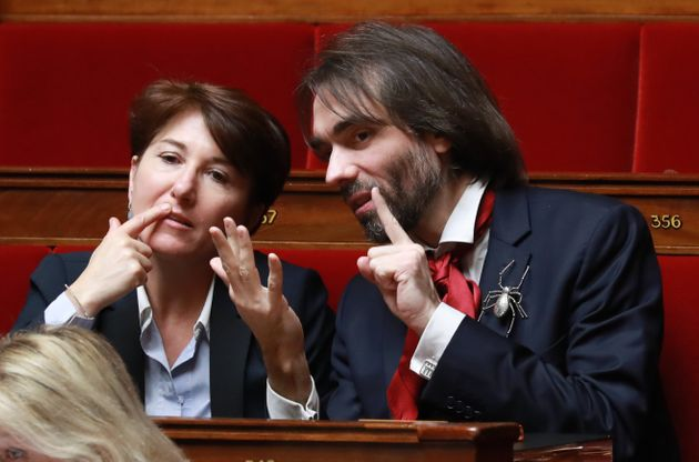 Michèle Crouzet et Cédric Villani à l'Assemblée nationale, mars