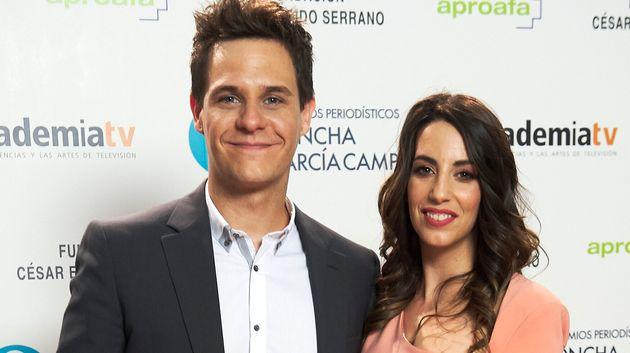 Almudena Cid y Christian Galvez , en los Premios Concha García Campoy el 26 de junio de