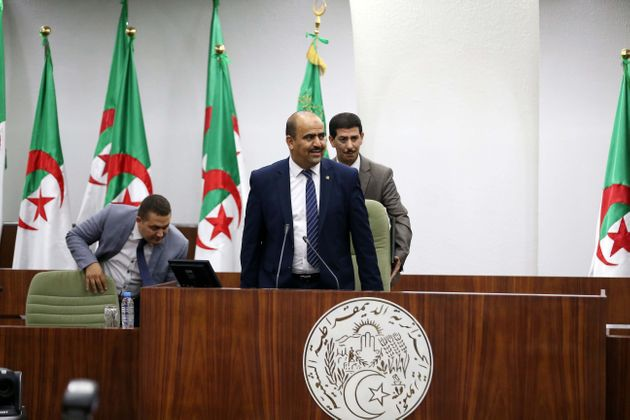 Slimane Chenine, the new president of the Algerian National People's Assembly, Algiers, Algeria, July...