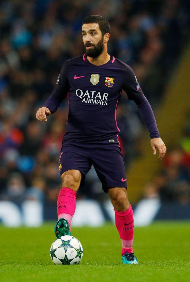Arda Turan, en un partido con el Barça en