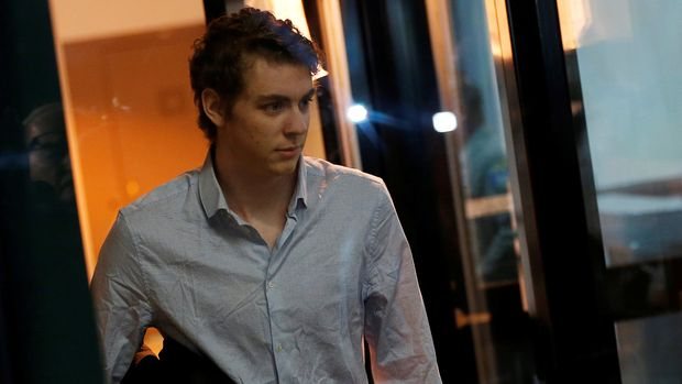 Brock Turner, the former Stanford swimmer convicted of sexually assaulting an unconscious woman, leaves the Santa Clara County Jail in San Jose, California, U.S. September 2, 2016. REUTERS/Stephen Lam