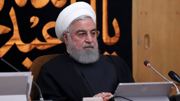"In this photo released by the official website of the office of the Iranian Presidency, President Hassan Rouhani heads a cabinet meeting in Tehran, Iran, Wednesday, Sept. 11, 2019. Rouhani urged the U.S. on Wednesday to ""put warmongers aside"" as tensions roil the Persian Gulf amid an escalating crisis between Washington and Tehran in the wake of the collapsing nuclear deal with world powers. (Iranian Presidency Office via AP)"