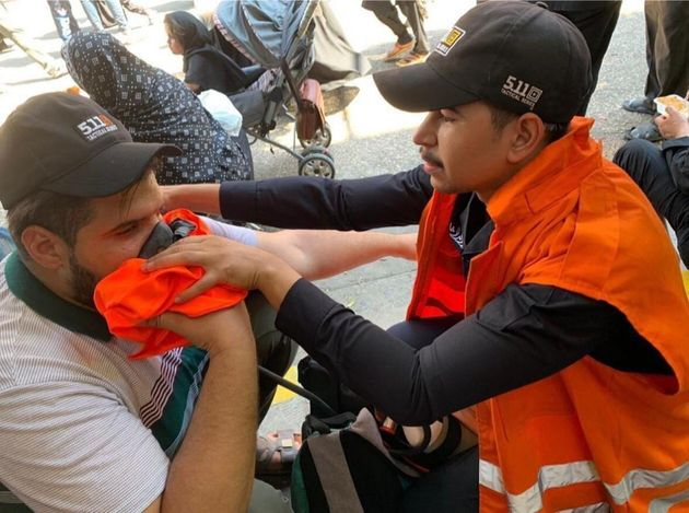 KARBALA, IRAQ - SEPTEMBER 10: People, affected from the stampede, receives medical attention from Iraqi...