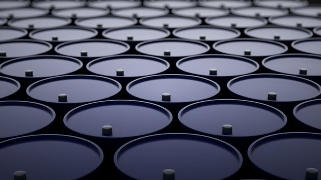 3d illustration of barrels with
