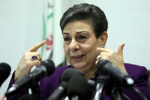 Hanane Achraoui, responsable au sein de l'Organisation de libération de la Palestine (OLP), s'exprime...