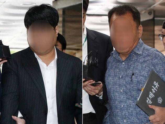 사모펀드 운용사 코링크프라이빗에쿼티(PE) 이 모 대표(왼쪽)와 가로등 자동점멸기 업체 웰스씨앤티 최모