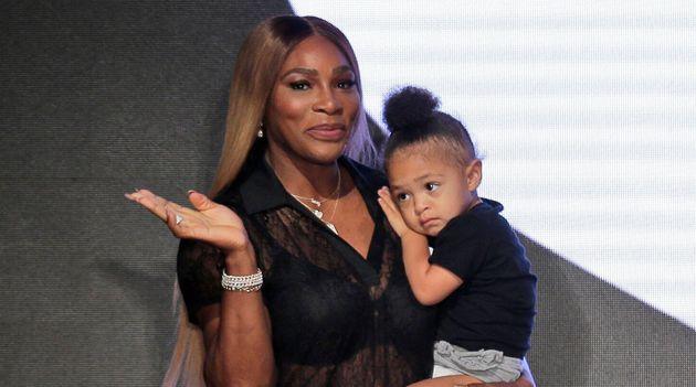 Serena Williams et sa fille Alexis Olympia à l'issue du défilé