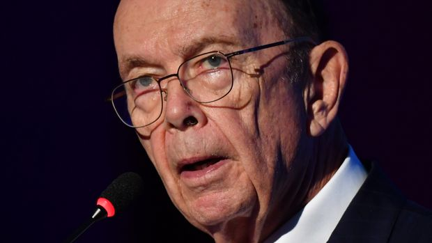 US Comerce Secretary Wilbur Ross speaks during a meeting with businessmen at the American Chamber of Commerce, in Sao Paulo, Brazil, on July 30, 2019. (Photo by NELSON ALMEIDA / AFP)        (Photo credit should read NELSON ALMEIDA/AFP/Getty Images)