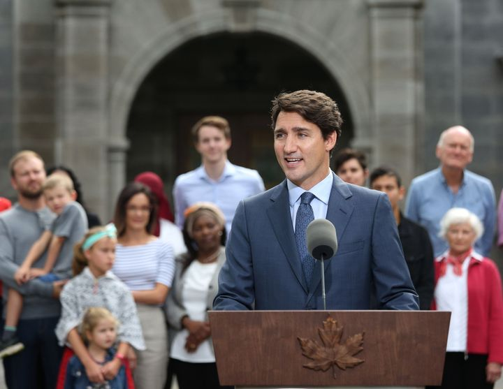 Liberal Leader Justin Trudeau kicks off his campaign at Rideau Hall in Ottawa on Sept. 11, 2019.