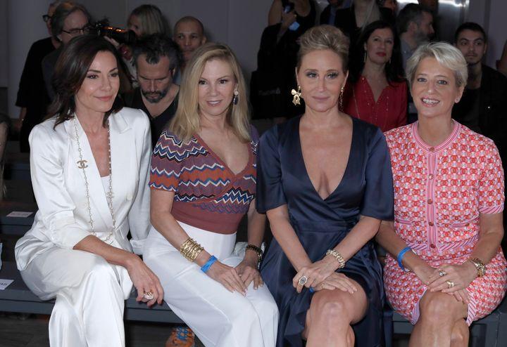 Luann de Lesseps, Ramona Singer, Sonja Morgan, and Dorinda Medley attend Garo Sparo Atelier Runway Show