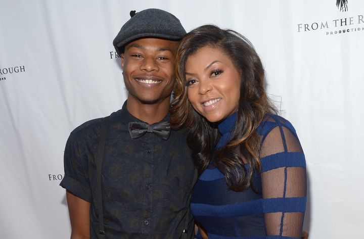"""Taraji P. Henson and her son, Marcell, attend the screening of """"From The Rough"""" at ArcLight Cinemas on April 23, 2014 in Hollywood, California."""