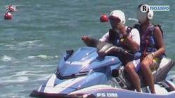 Avviato procedimento nei confronti dell'agente che ha fatto salire il figlio di Salvini sulla moto d'acqua della