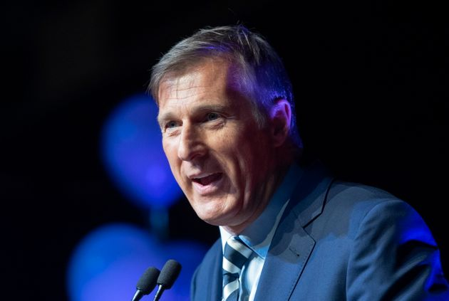Maxime Bernier, leader of the People's Party of Canada, at the launch of his campaign on Aug. 25, 2019...