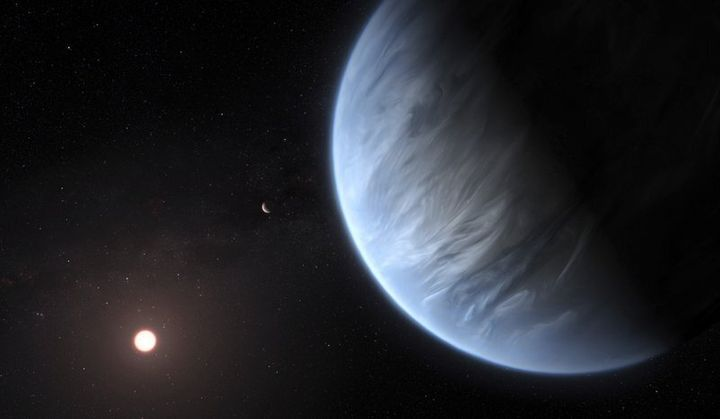 This artist's rendering provided by University College London Centre for Space Exochemistry Data researchers shows Exoplanet