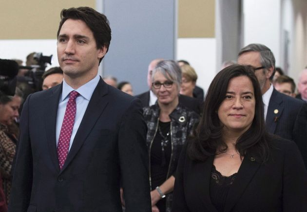 Prime Minister Justin Trudeau and Jody Wilson-Raybould in Ottawa on Dec. 15,