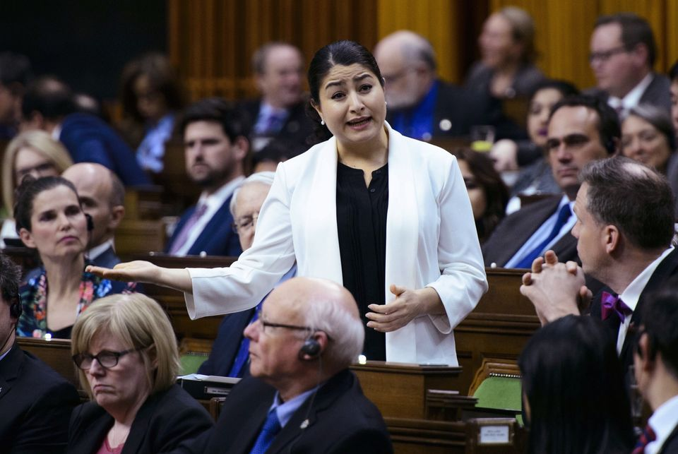 Status of Women Minister Maryam Monsef stands during question period in the House of Commons on May 2,