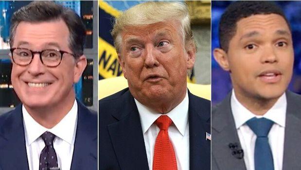 Stephen Colbert, Donald Trump, Trevor Noah