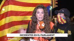 Una reportera de Antena 3, increpada en directo en las protestas tras la