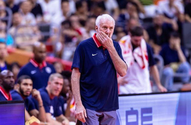 El entrenador del USA Team, Gregg Popovich, durante el partido de su equipo contra
