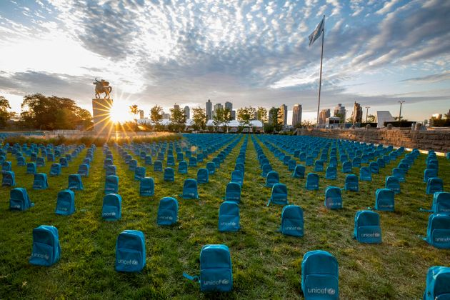 'Graveyard' Of Backpacks At UN Headquarters Memorializes Children Who Died In