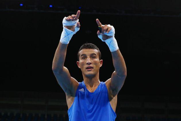 Mohamed Hamoute lors des JO de Rio 2016, le 11 août