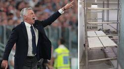 Gli spogliatoi del Napoli non sono pronti e Ancelotti sbotta. La società pubblica il