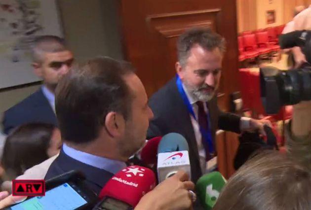 José Luis Ábalos, a su llegada al Congreso este