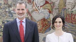 Críticas a Isabel Díaz Ayuso por lo que escribió en Instagram tras verse con el rey