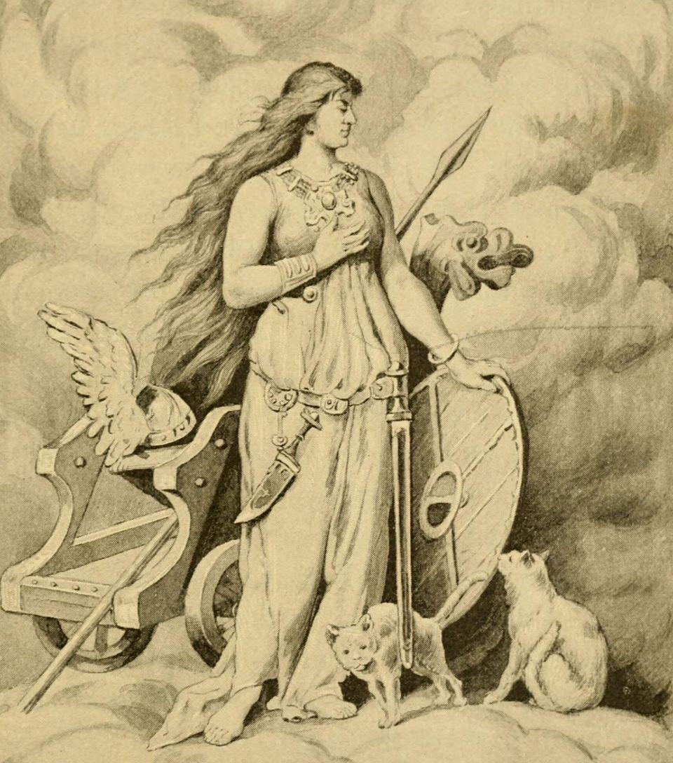 H Θεά Φρέγια (Freya ή Freyja)